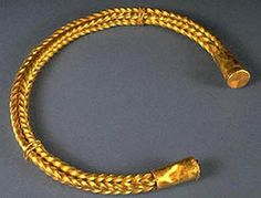 Celtic torc: Bronze Age, roughly between 1300 and 1200 BC