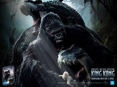 Risultati immagini per 2005 king kong empire state building poster King Kong Image, Image King, King Kong Skull Island, King Kong 2005, Cool Desktop Wallpapers, Hd Wallpaper, Movie Talk, Movie Producers, Good Movies