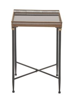 Grandeur & Unique Styled Metal Marble Tray Table
