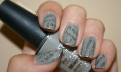 Newspaper nails...so easy to do!