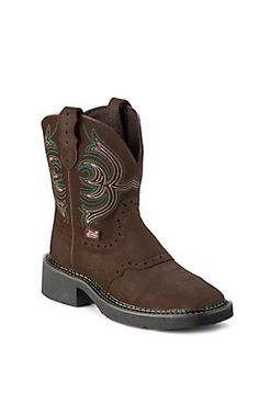 Justin® Gypsy™ Kids Distressed Dark Brown Saddle Vamp Square Toe Western Boots | Cavenders Boot City