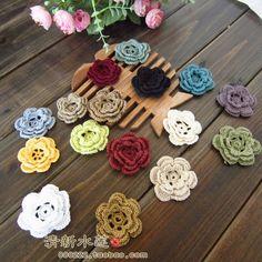 Cores gratuitas Design4 Moda transporte 50 fotos artesanais cabeça menina usar acessórios crochet estéreo 100% algodão multicolorido doily em Aliexpress.com   Alibaba Group