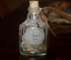 Dandelion Wishes Apothecary Bottle with Inspirational Saying Unique Gift Handmade Graduation, Sympathy, Compassion by DesignsByBia on Etsy