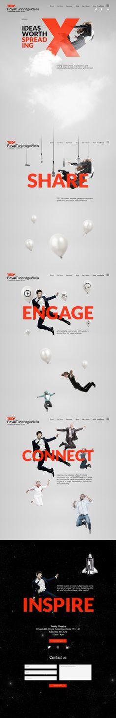 TEDx homepage