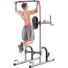At Home Gym Workout Station Back Chest Pull Ups Dips Six Pack Excersice Machine #AtHomeGym