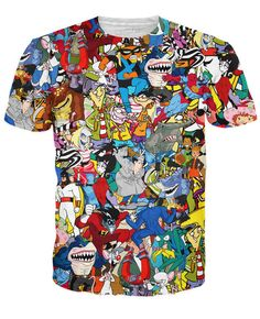 If you loved our Totally 90's T-Shirt, you're gonna freak over this Extreme 90s Collage T-Shirt! This fully-sublimated, all-over print tee has all of your favor