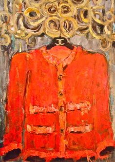 "Saatchi+Art+Artist+Sandy+Welch;+Painting,+""DREAM+JACKET+1""+#art"