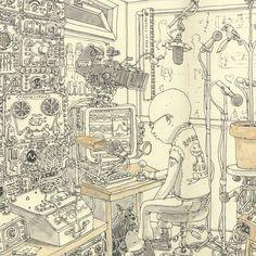 Incredible New Sketchbook Illustrations from Mattias Adolfsson