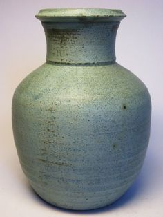 Vtg Studio Art Pottery Turquoise Lt Blue Matte Glaze Vase Classic Form Connell | eBay