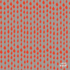 """Print """"Drips Coordinate"""" in red and grey by Wendy Brightbill"""