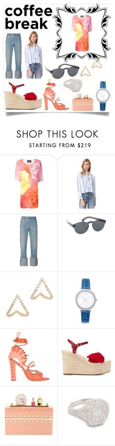 """""""Coffee Break"""" by mkrish ❤ liked on Polyvore featuring Boutique Moschino, 10 Crosby Derek Lam, RE/DONE, RetroSuperFuture, EF Collection, Michael Kors, Paula Cademartori, Valentino, Charlotte Olympia and Shay"""