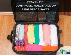 Travel Tip: Roll your clothes so they take up less space in your suitcase. Try it! It really works. #Traveltip #Themanaliinn #Manali #Manaliinn #Beas #mountain #manalicalling #holiday #spa #trekking #himalaya #luxury #hotel #restaurant #relax #enjoy #goodfood  #luxury #goodlife #himachal  #wanderlust #travellust #travel #photography #Kasol #leh #forest #nature #wander