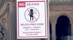 """No Selfie Zone: Jena Kingsley espalhou cartazes pelo Central Park, em Nova Iorque, e de farda e bloco estava pronta para aplicar a multa de US$50 a quem desobedecesse a nova """"lei da casa""""."""