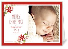 Floral Joy Christmas Card