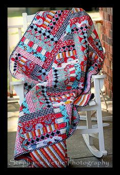 Rail Fence Quilt-this gives me an idea for Americana Quilt, mix Rail Fence with Log Cabin quilt
