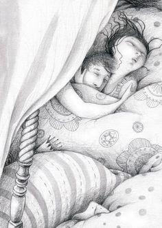 Os dejo con una de las ilustraciones que estoy haciendo para un libro aleman muy lindo sobre el arte de contar cuentos. Dies ist eine der I...