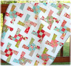 Baby Quilt Scrumptious Mix Windmills by CarleneWestberg on Etsy, $142.00