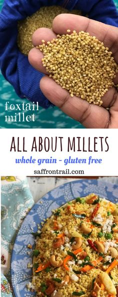 How to cook millets | This naturally gluten free ancient grain is making a come back and for all the right reasons. Read all about millets, the various kinds, how to cook them properly and a few recipes using millets.