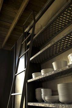 Photo: Brett Wolfe Industrial Kitchen Shelving