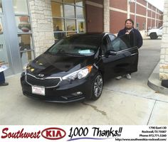 https://flic.kr/p/AN1x2d | Congratulations Kendall on your #Kia #Forte from Don Weintraub at Southwest KIA Rockwall! | deliverymaxx.com/DealerReviews.aspx?DealerCode=TYEE