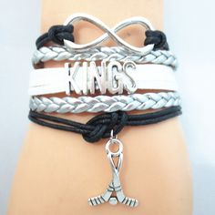 Infinity Love Los Angeles Kings Hockey - Show off your teams colors! Cutest Love Los Angeles Kings Bracelet on the Planet! Don't miss our Special Sales Event. Many teams available. www.DilyDalee.co