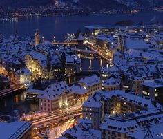 This is a picture of Lucerne Christmas market, Franziskanerplatz