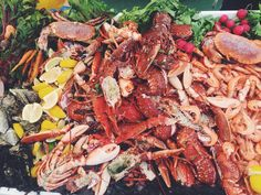 Pile of lobsters at House Festival, London