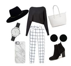 """""""Black#2"""" by devilsister4 on Polyvore featuring MANGO, Crea Concept, Zimmermann, AeraVida, Olivia Burton, Uncommon and Nly Shoes"""