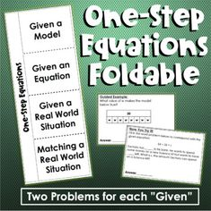 Solving One-Step Equations Foldable Dependent And Independent Variables, One Step Equations, Rational Numbers, Solving Equations, World Problems, Try On, Teacher Newsletter, First Step, Student