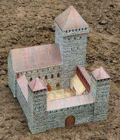 free medieval castle paper model download