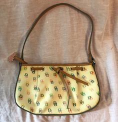 Dooney & Bourke Monogram DB Leather Coated Canvas RIRI Zipper Heart FOB Bag  #DooneyBourke #ShoulderBag