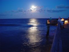 This night photo at the Isle of Palms fishing pier was taken by Rodger Painter in 2007.