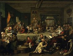 Hogarth, William - Elections : 1. An election Entertainment - Sir John Soane's Museum, Londres