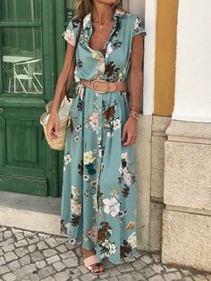 4282 Print Floral Short Sleeves A Linie Maxi Lässige Kleidung Urlaub Kleider . 4282 Print Floral Short Sleeves A Line Maxi Casual Vacation Dresses VeryVoga Maxi Shirts, Maxi Shirt Dress, Maxi Dress With Sleeves, Short Sleeve Dresses, Short Sleeves, Sheath Dress, Long Sleeve, Slit Dress, Dress Tops