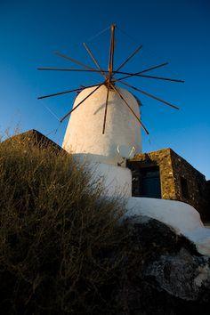 santorini greece windmill
