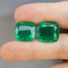 Unique Emerald Pair 34.79 ct (!!!) Total price: $37573 Treatment: oil Dimensions (mm): 16.3x15.8x9.7; 16.3x15.8x9.3 Origin: Zambia ID: em-3479-1