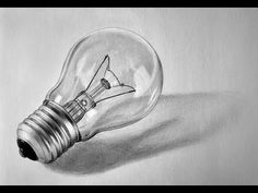 3D Realistic Bulb Drawing - YouTube