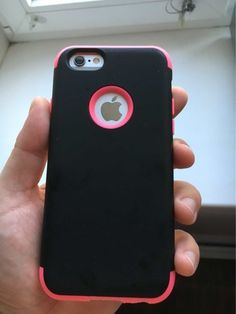 """Case is very cool. Wife is happy. The price it worth it. The pink part rubber…"