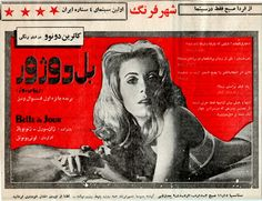 Iranian newspaper add for Belle du Jour (Luis Buñuel, 1967)
