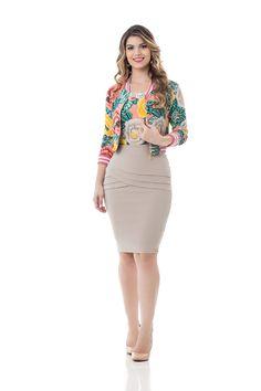 foto Stylish Dresses, Sexy Dresses, Trendy Outfits, Fashion Dresses, Dresses For Work, Long Skirt Outfits, Pencil Skirt Outfits, Workwear Fashion, Western Dresses