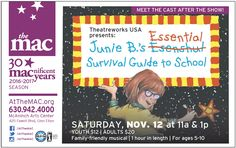 SHOW TODAY: Junie B.'s Essential Survival Guide to School (for K-5) http://www.chicagosuburbanfamily.com/junie-b-s-essential-survival-guide-to-school-for-k-5/
