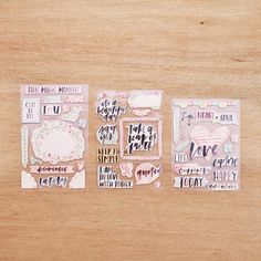 Inspire Edition Chipboard Stickers