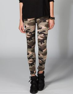 FULL TILT Camo Print Womens Leggings 218172533 | Leggings | Tillys.com #camo #camouflage #leggings