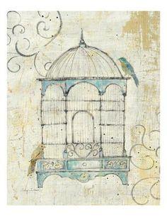 Bird Cage IV Premium Giclee Print by Avery Tillmon at Art.com