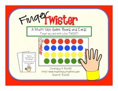 {FREEBIE!} Finger Twister:  A Multi-Use Game Board and Cards