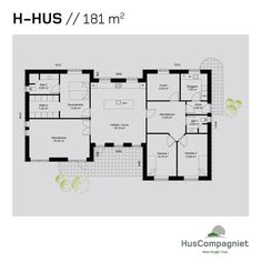 Hvordan skal dit nye hjem se ud? Se en plantegning over vores smukke H-hus på 154 m2, der kan tilpasses efter dine og familiens behov. Exterior Design, Pergola, Floor Plans, Loft, How To Plan, Architecture, Omelet, Inspiration, Caption