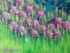 """I Dream of Blooming"" 16 x 20 original work by KMSchon #bloomtrue"