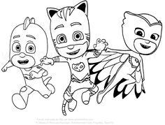 disegni da colorare pj mask | Disegno dei PJ Masks superpigiamini da colorare