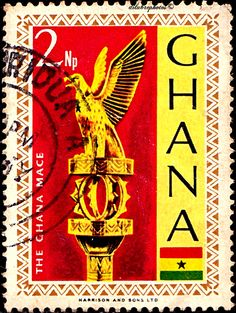 Ghana.  GHANA MACE (GOLDEN STAFF).  Scott  288 A74, Issued 1967,  Photo, Wmk325, Perf. 14 1/2 x 14,  2. /ldb.