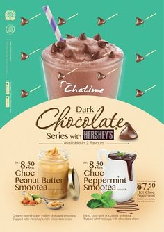 Chocolate lovers have reason to rejoice this holiday season as Chatime Malaysia and The Hershey Companyannounced their strategic collaboration to introduce Food Graphic Design, Food Poster Design, Menu Design, Food Design, Banner Design, Graphic Design Inspiration, Hershey Chocolate, Chocolate Cups, Chocolate Lovers